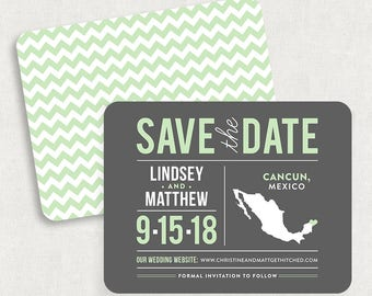 Mexico Save the Dates, Destination Save the Dates, State Save the Dates, Postcard Save the Dates, Mexico Postcard Save the Dates, Printable