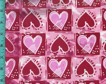 Valentine Tile Hearts, Fabric Quilting Crafting Home Decor