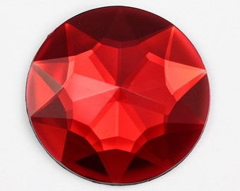 Large Red Ruby Lead Free Round Acrylic Jewels Gems For Cosplay and Costumes - 3 Sizes