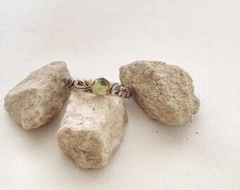 Peridot Ring - Sterling Silver and Peridot Ring - Silver Ring