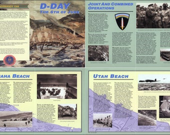 Poster, Many Sizes Available; D-Day Normandy, 6Th Of June 1944 Overview