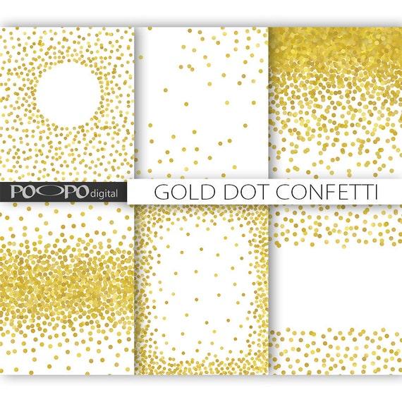 85 x 11 gold dot confetti digital paper invitation template. Black Bedroom Furniture Sets. Home Design Ideas