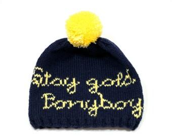 Stay gold, Ponyboy Hand Knit Hat