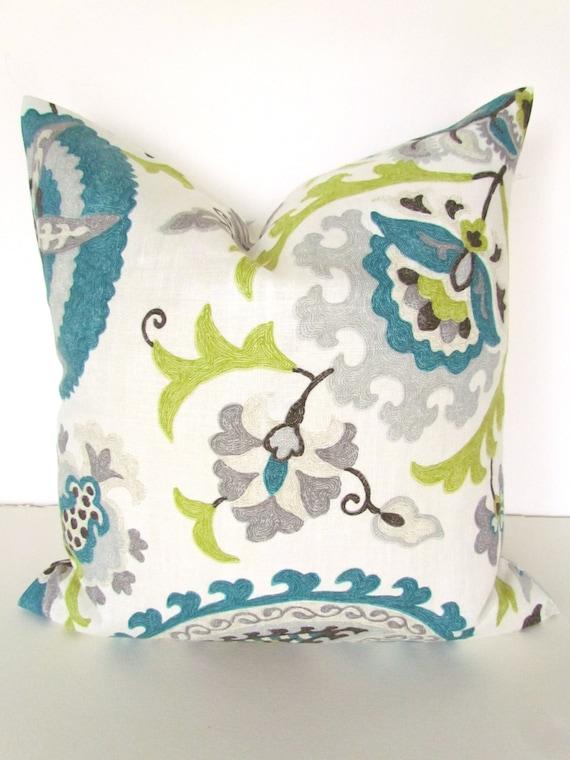 Teal Pillows Blue Throw Pillows Gray Pillows Lime Green Throw