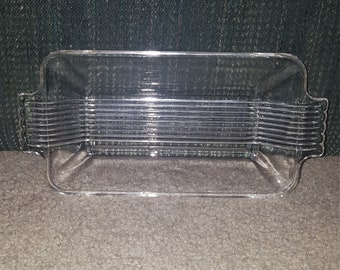 50's Pressed Glass Relish Tray