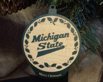 Michigan State Script - Ornament