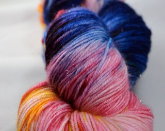 "Dyed on Demand Fingering ""Painted Bunting"" Hand Dyed Yarn"
