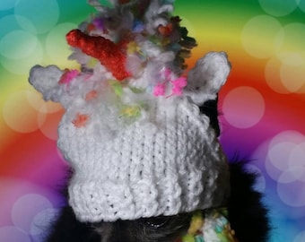 dog hat - Unicorn