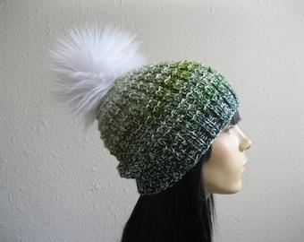 Knit Beanie -  Green Beanie Hat - Hand Knit Beanie Hat - Knitted Beanie- Spring Beanie Hat - Knitted Beanie Hat - Beanies - Knit Beanie Hat
