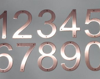 """Majestic MFG Pure Copper House Numbers Raw Copper 5"""" & 8"""""""
