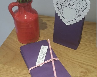 Paper Favour Bags or Candy Bags  Bags Pk20 - Purple