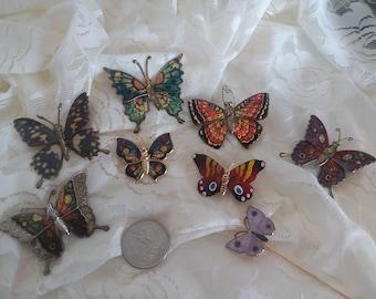 Assortment of colorful butterflies