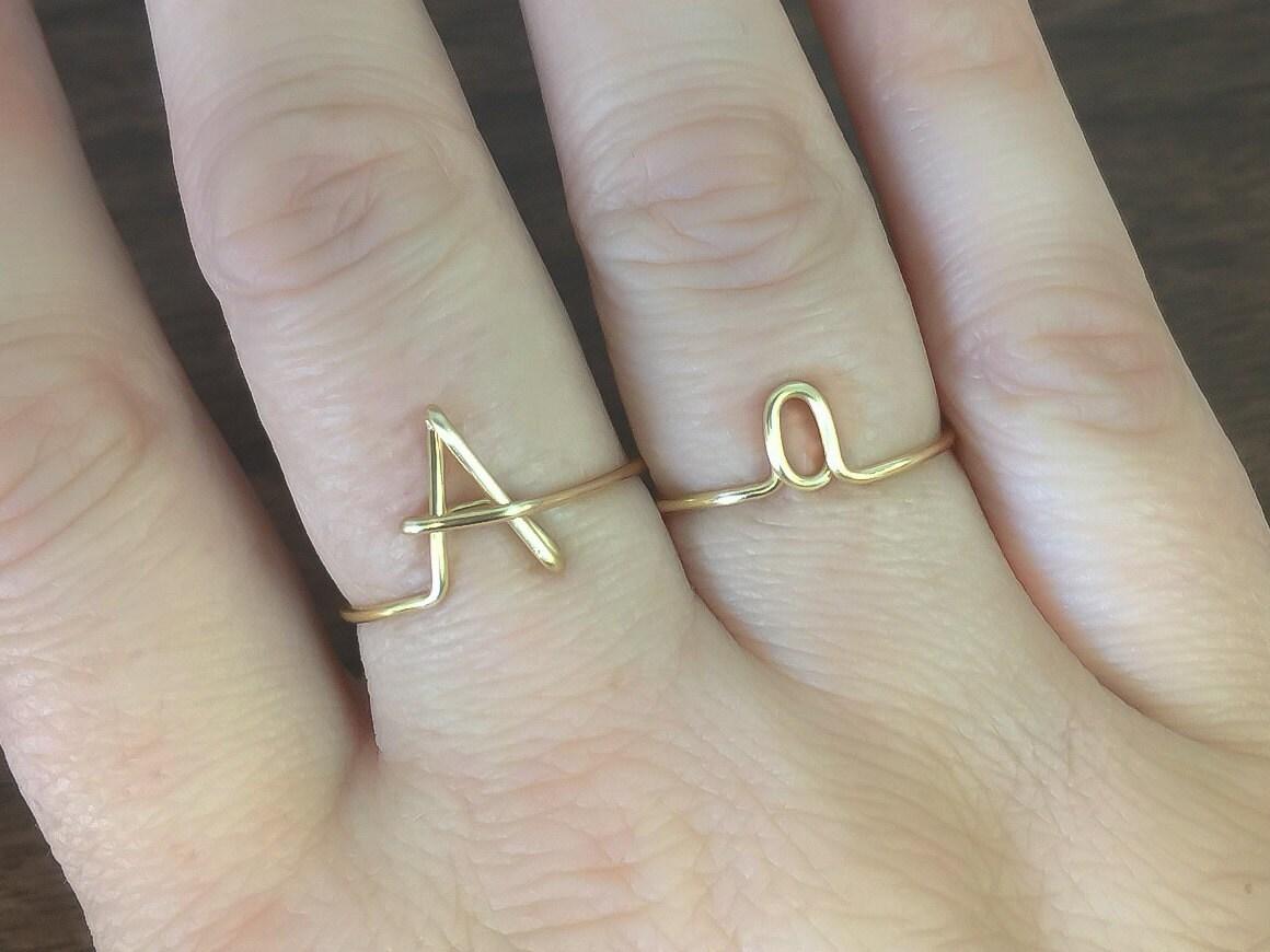 Ersten Ring Buchstabe A Ring personalisierte erste