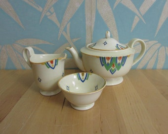 Early Art Deco period Mintons porcelain tea-for-one set