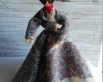"Vintage Hand Made Rope Doll. Stands 11"". Nicely made."