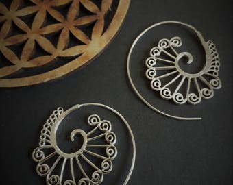 earrings *spiral* in sterling silver