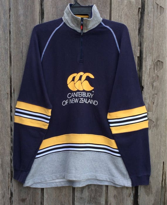 Vintage Canterbury New Zealand Spell Out, Rugby, All Black, HipHop Casual, Size L Rare