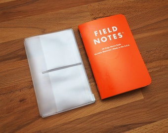 Plastic Card Holder / Zipper Case for Traveler's Notebook [Pocket Size]