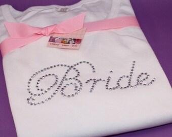 BRIDE adult rhinestone tee by Daisy Creek Designs