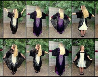 Stevie Nicks Raven Wings Spiderweb Mandala Tunic Vest and Gauntlets 3 Crochet PATTERNS