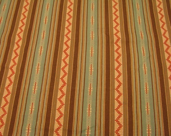 """Laura Kiran Southwest Stripes El Paso lightweight twill decor fabric, sent as 18 or 26"""" sq pillow size cuts, or sent as sewn pillow covers"""