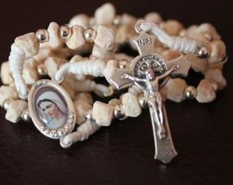 Catholic rosary from Medjugorje, St Mary rosary, womens rosary, religious gift, handmade rosary, mom gift, praye beads, RCIA gifts