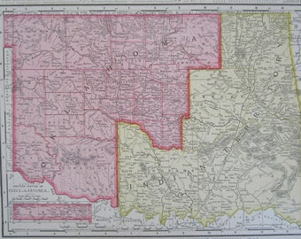 oklahoma indian territory map