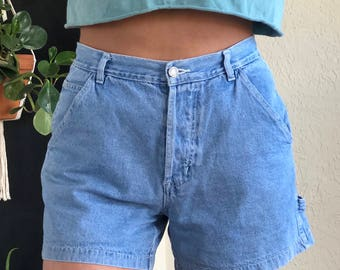 high waisted light wash vintage shorts