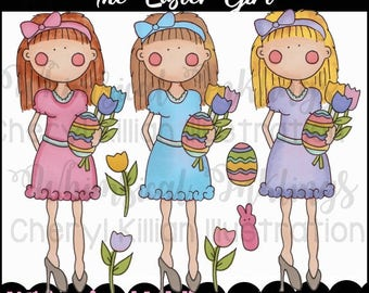 The Easter Girls Clipart Collection- Immediate Download
