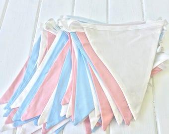 Wedding bunting, Wedding bunting flags, Pastel colour bunting, Wedding garland, Long bunting, Wedding banner, Fabric flags,10 meters bunting