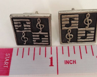 Music Note Treble Clef Cuff Links