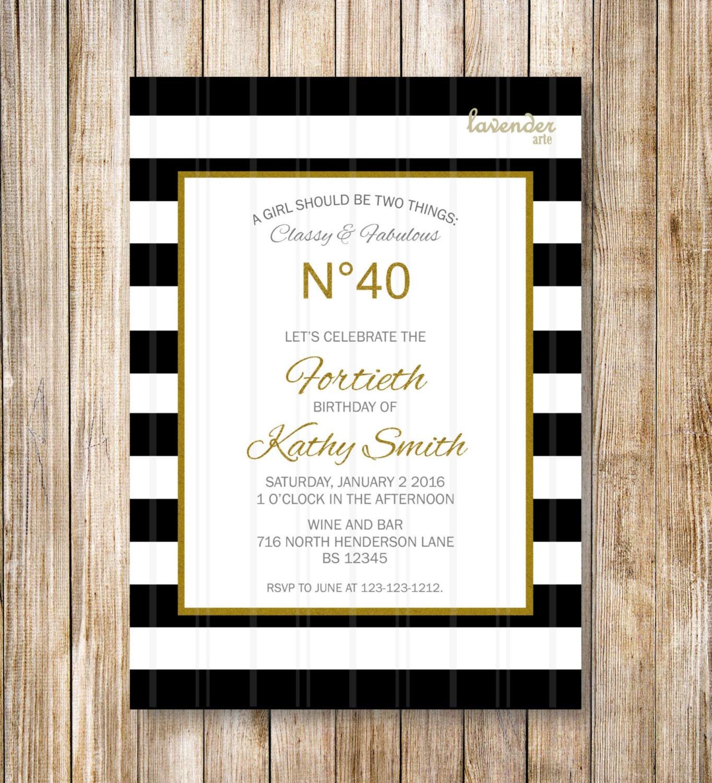 Nautical Birthday Invitation 30th Gold make christmas party ...