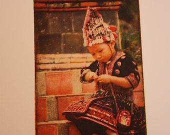 4-color Photogravure Printmaking Photograph Portrait - Thai Girl
