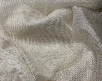 """100% Rayon Netting Tulle 50""""w French off-white"""