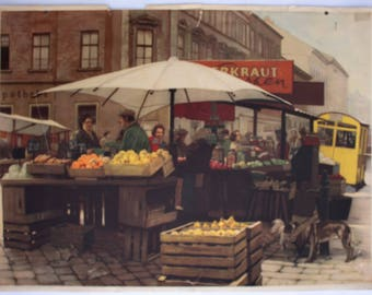 Market place, educational chart, 1948