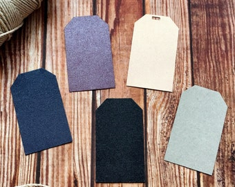 Blank paper tags, set of 25 blank wedding tags, small party labels, DIY wedding place cards, custom color wedding decor, DIY party favors