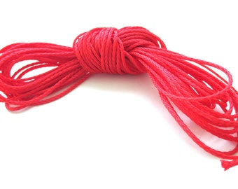 Polyester yarn - cord pacifier 1.5 mm-Red