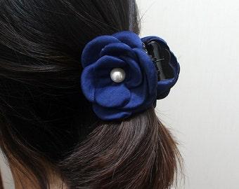 Free shipping,Blue  simple hair banana clip,medium ponytail clip,Hair Jaws,Hair Clips, Romantic Hair Jaws,barrettes,smail Hair Jaws,flower