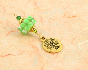 Blessingway bead - Spring Morning Sunny Tree of Life - Mother Blessing bead, mama goddess
