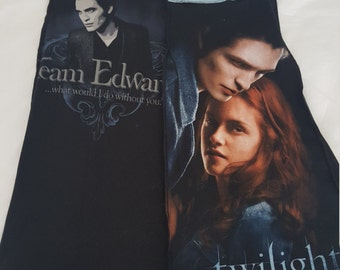 Twilight Team Edward upcycled black skirt