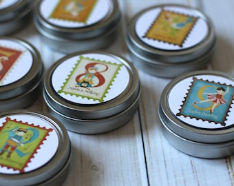 12 Days of Christmas Reusable Christmas Advent Calendar / Magnet Advent with Containers / 25 Day Christmas Countdown