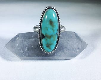 Turquoise + Sterling Silver Ring - Size 9.5