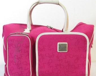 Diane Von Furstenberg Hot Pink Luggage Bag
