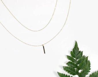 Layering Necklaces - Dainty Gold Necklaces - Layering Necklaces - Minimal Dainty 14 Karat Gold Necklaces - Bar & Chain