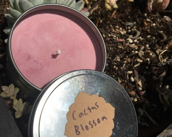 8 oz soy cactus blossom candle