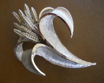 BSK Silver Wheat Brooch