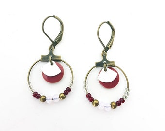 Plum earrings