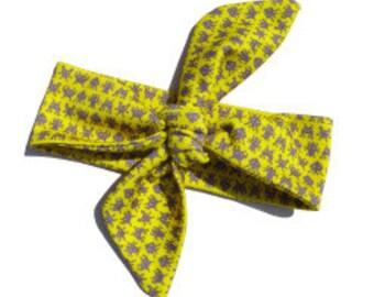 Headband CREATURES yellow   organic cotton