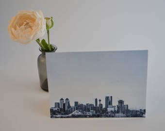 Calgary Skyline Photo Card, Made in Canada Blank Card, YYC Alberta Cards with Envelopes by KarenMakes
