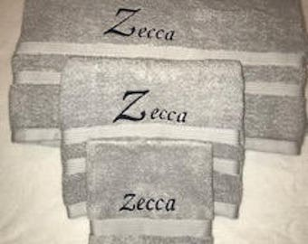 Soft Luxury Embroidered Towels Set of 6 - Personalized Towels for Anniversaries, Weddings, Baby Showers, Birthdays, and More!
